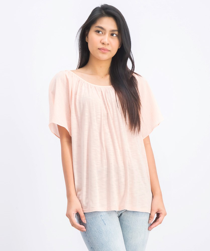 Women's Crisscross Back Blouse, Peach
