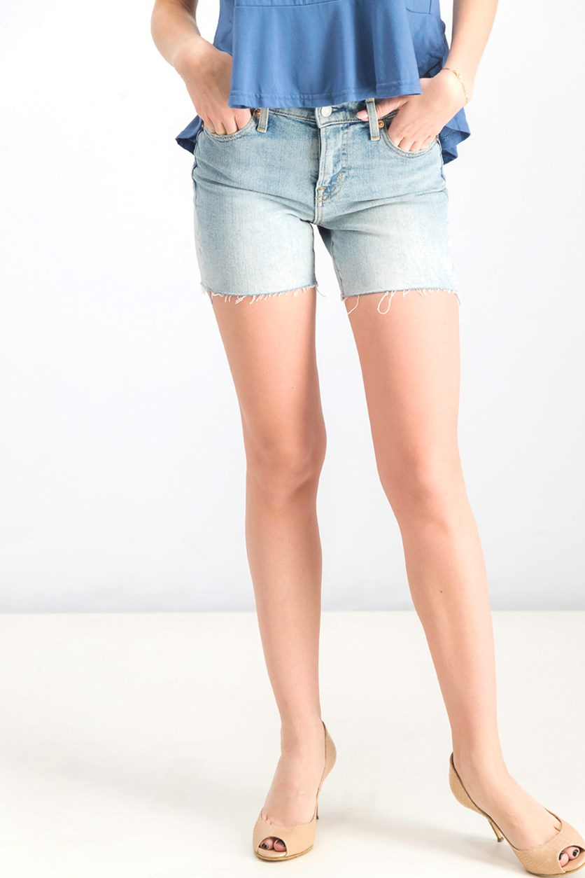 Women's Stretch Denim Short, Light Wash Blue