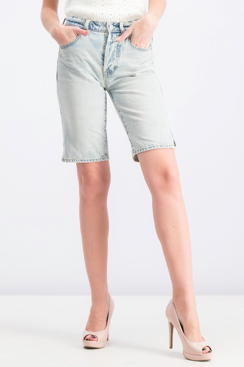 Women's Wash Denim Short, Blue