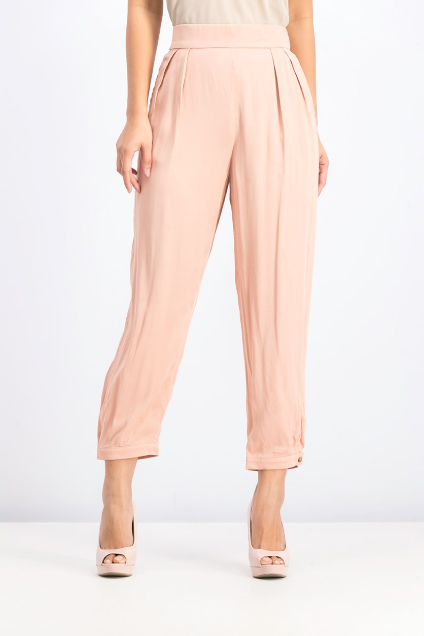 Women's Elastic Waistband Pants, Blush