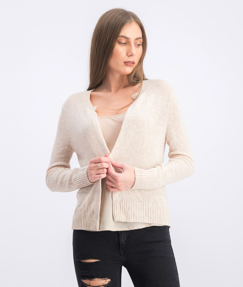 Women's Open Front Cardigan, Oatmeal