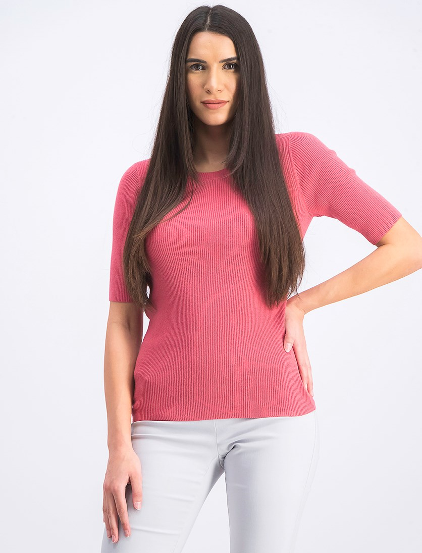 Women's Rib Tops, Rose