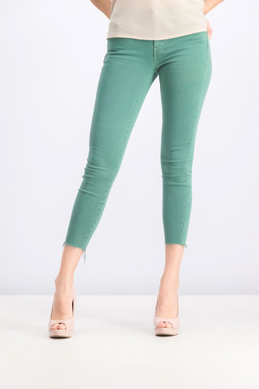 Women's Petite True Skinny Jeans, Green