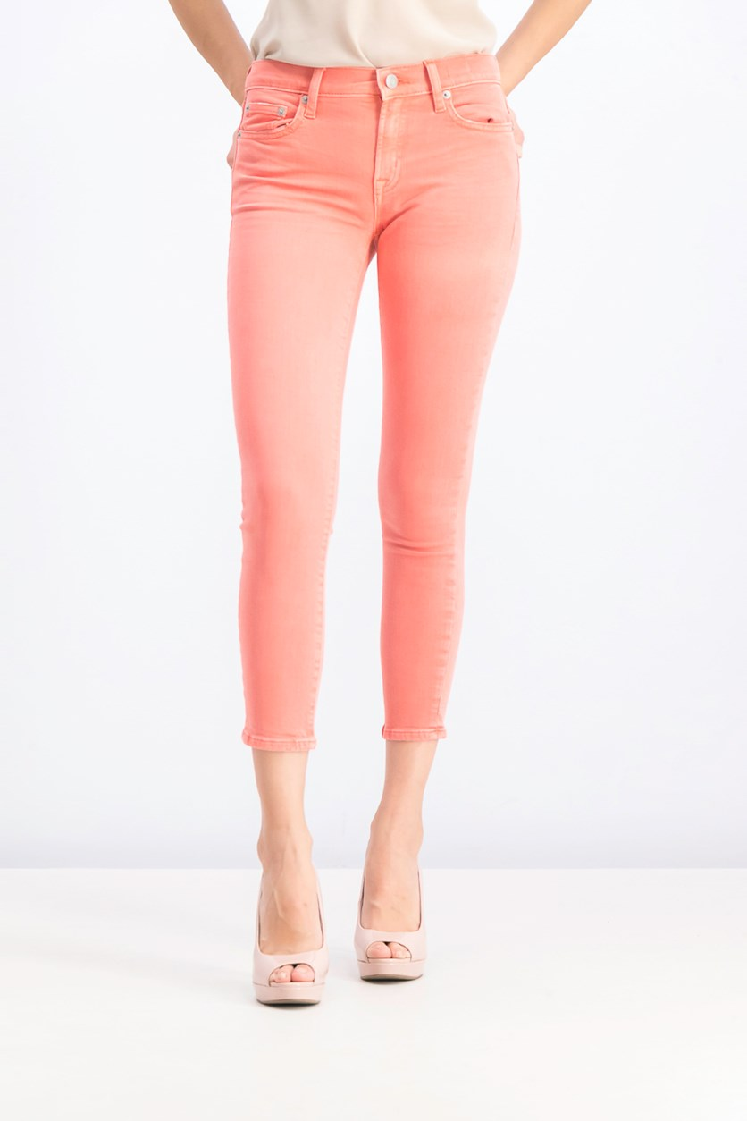 Women's Petite True Skinny Jeans, Pink/Orange