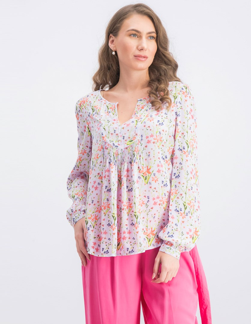 Women's Printed Floral Tops, Lilac Combo