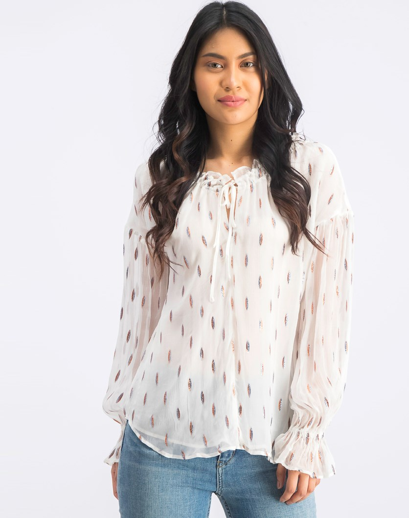 Women's Bell Sleeve Top, White