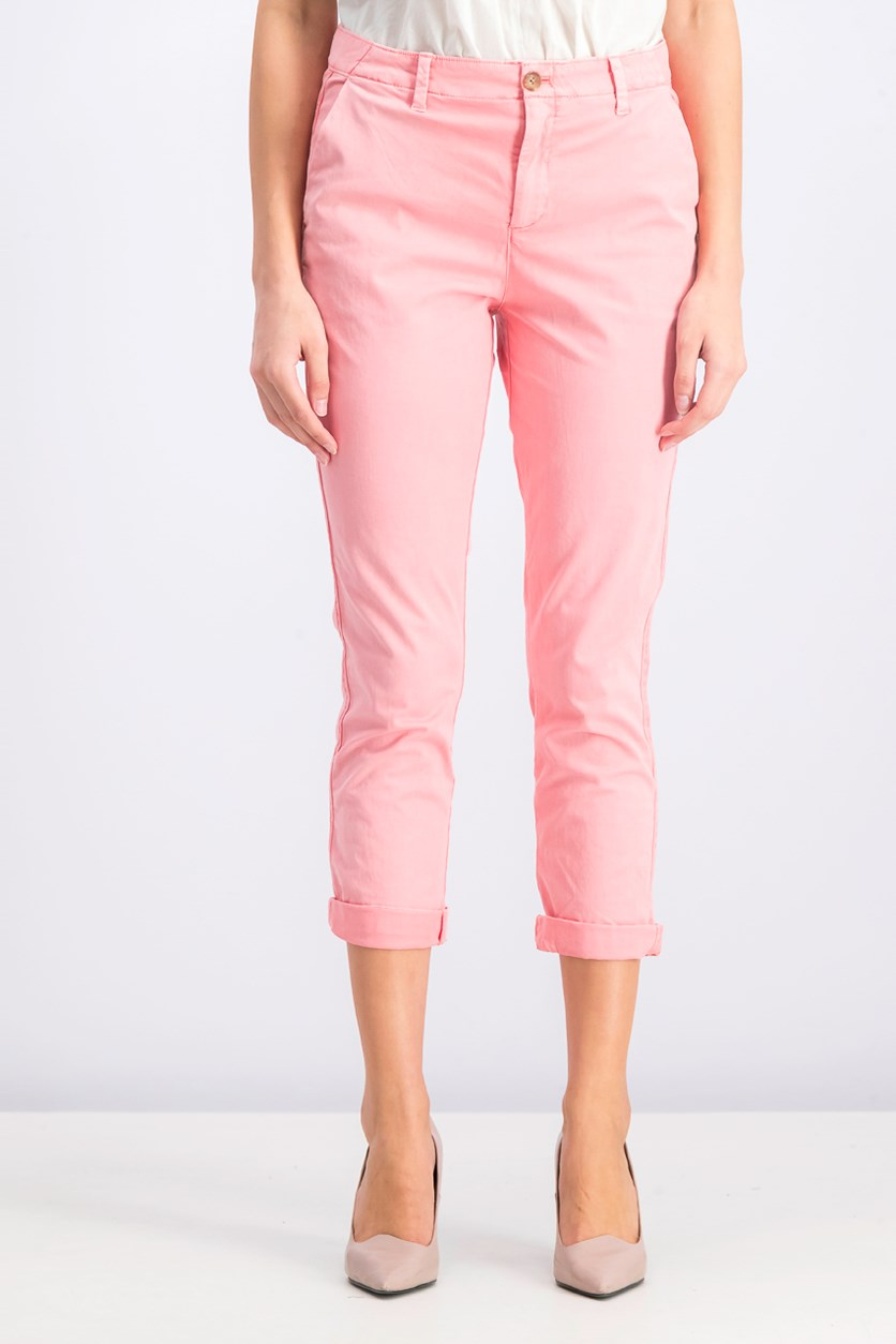 Women's Girlfriend Chino Pants, Coral Pink