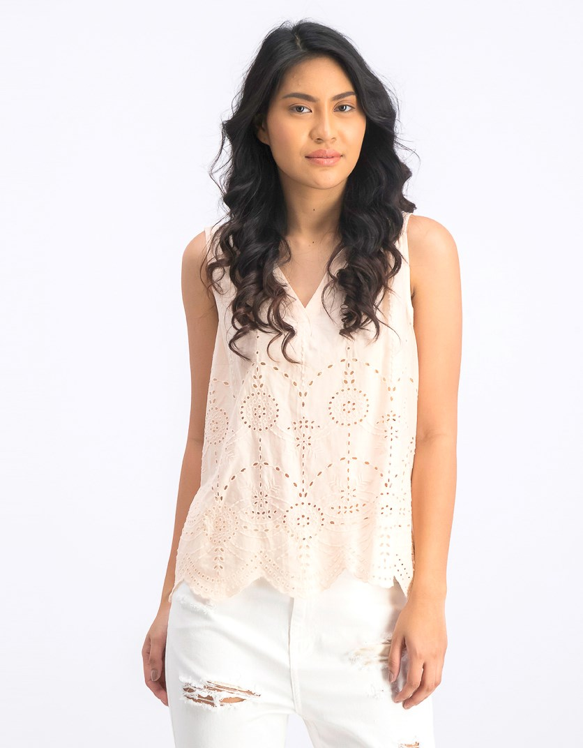 Women's Sleeveless Top, Peach