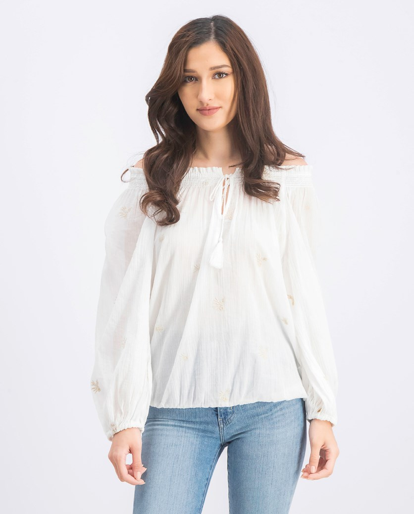Women's Off Shoulder Blouse, White