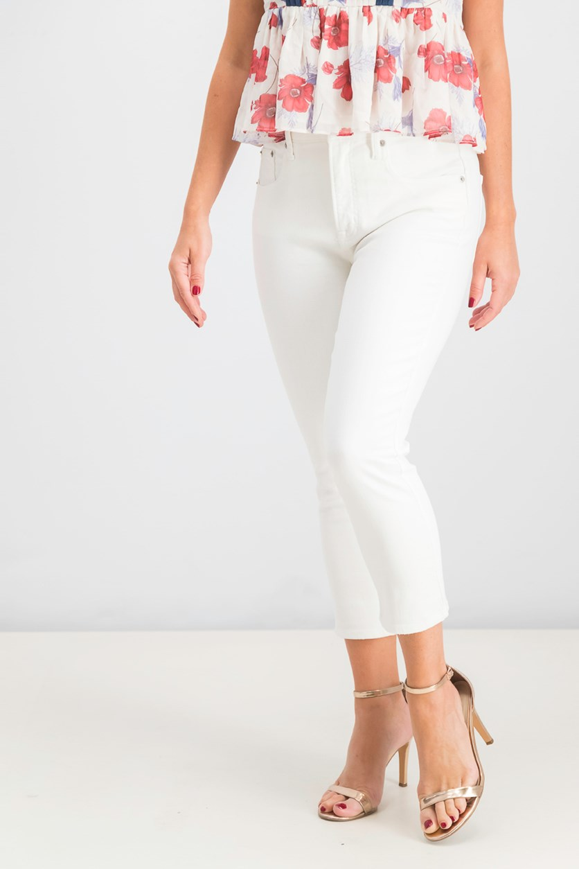 Women's Petite Stretch Jeans, White