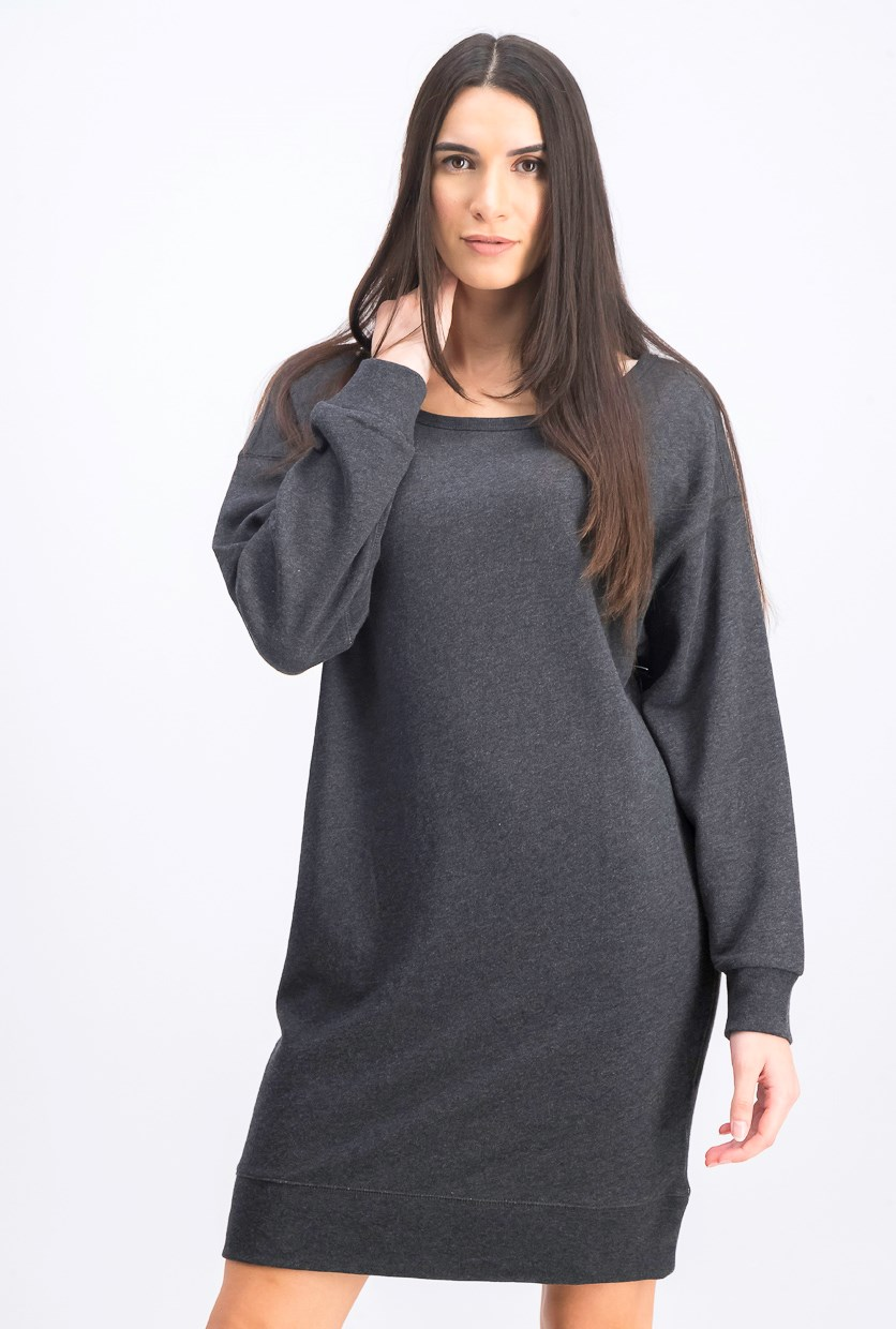 Women's Sweater Dress, Charcoal