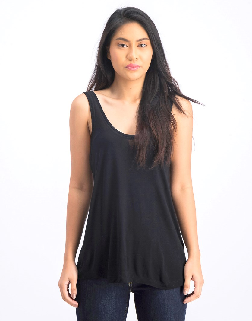 Women's Plain Tank Top, Black