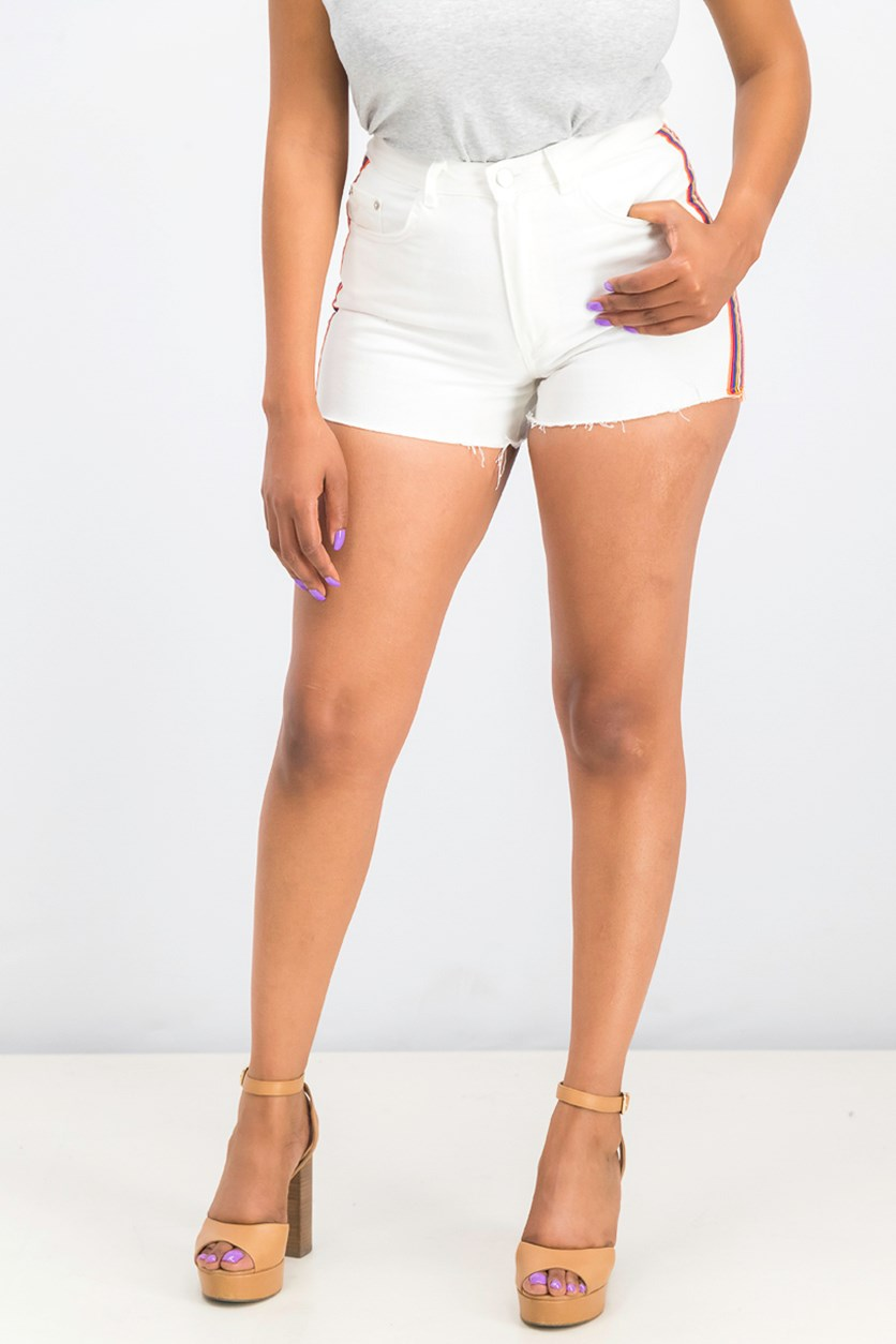 Women's Super High Rise Denim Short, White