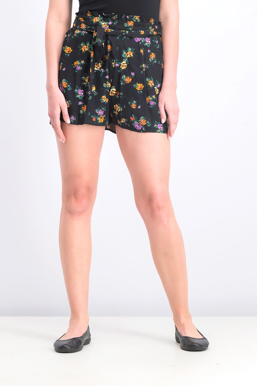 Women's Floral Short, Black Combo