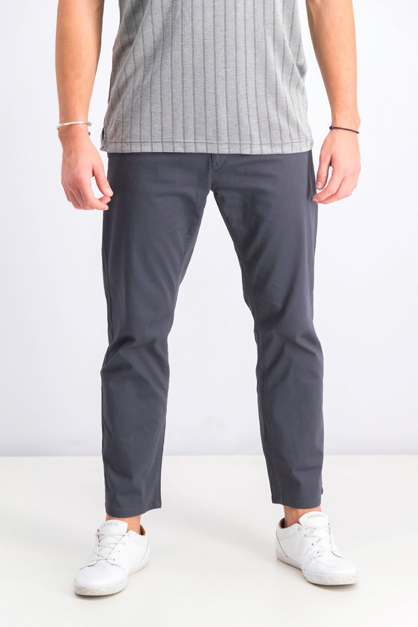 Men's Straight-Fit Pants, Charcoal