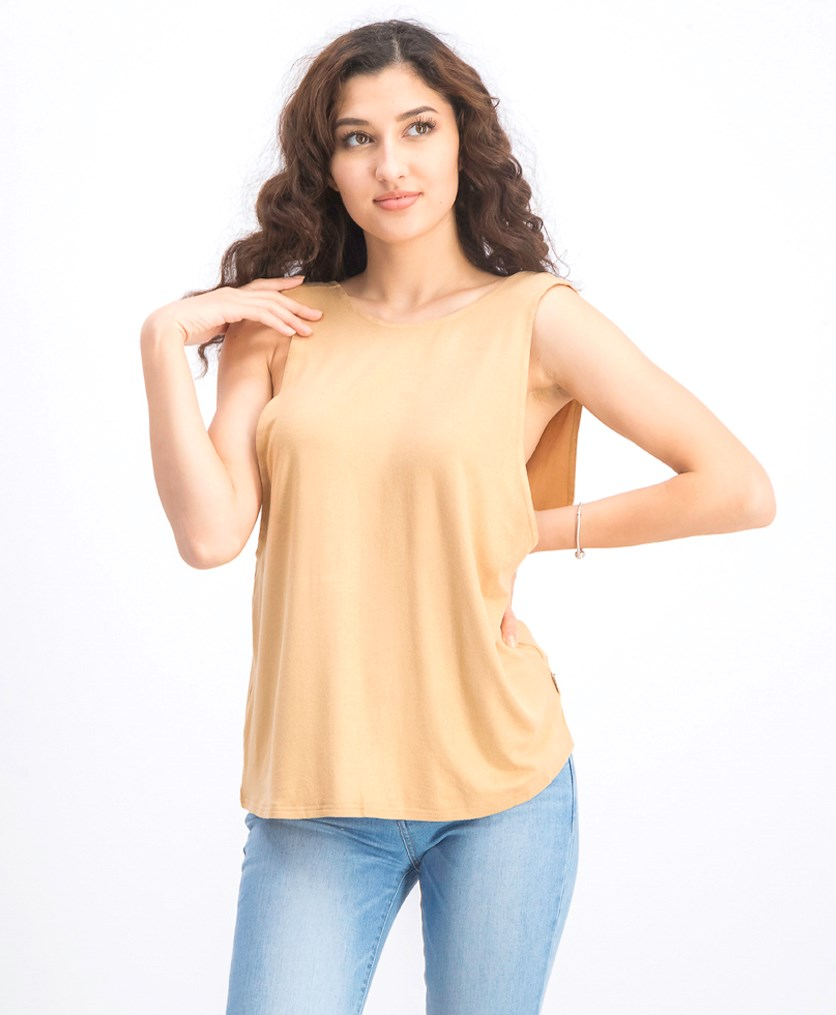 Women's Freelow Sleeveless Top, Gold