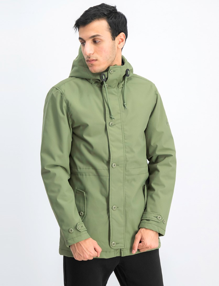 Men's No Boundaries Hoodie Parka, Green