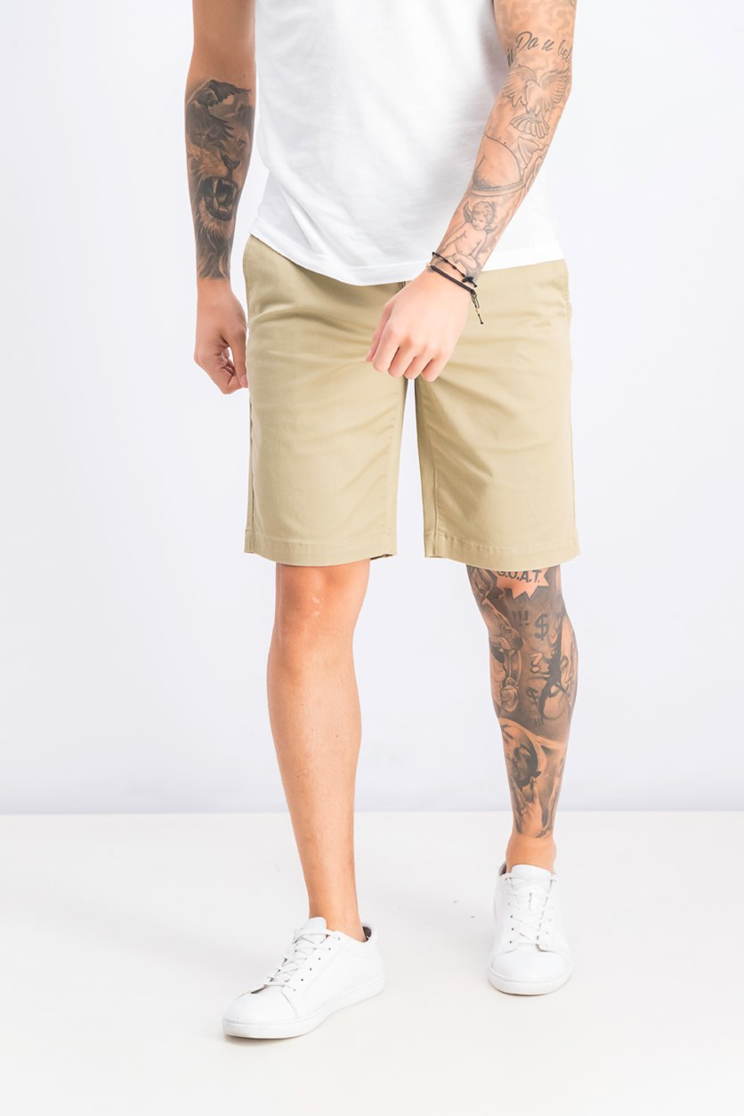 Men's Stretch Chino Short, Khaki