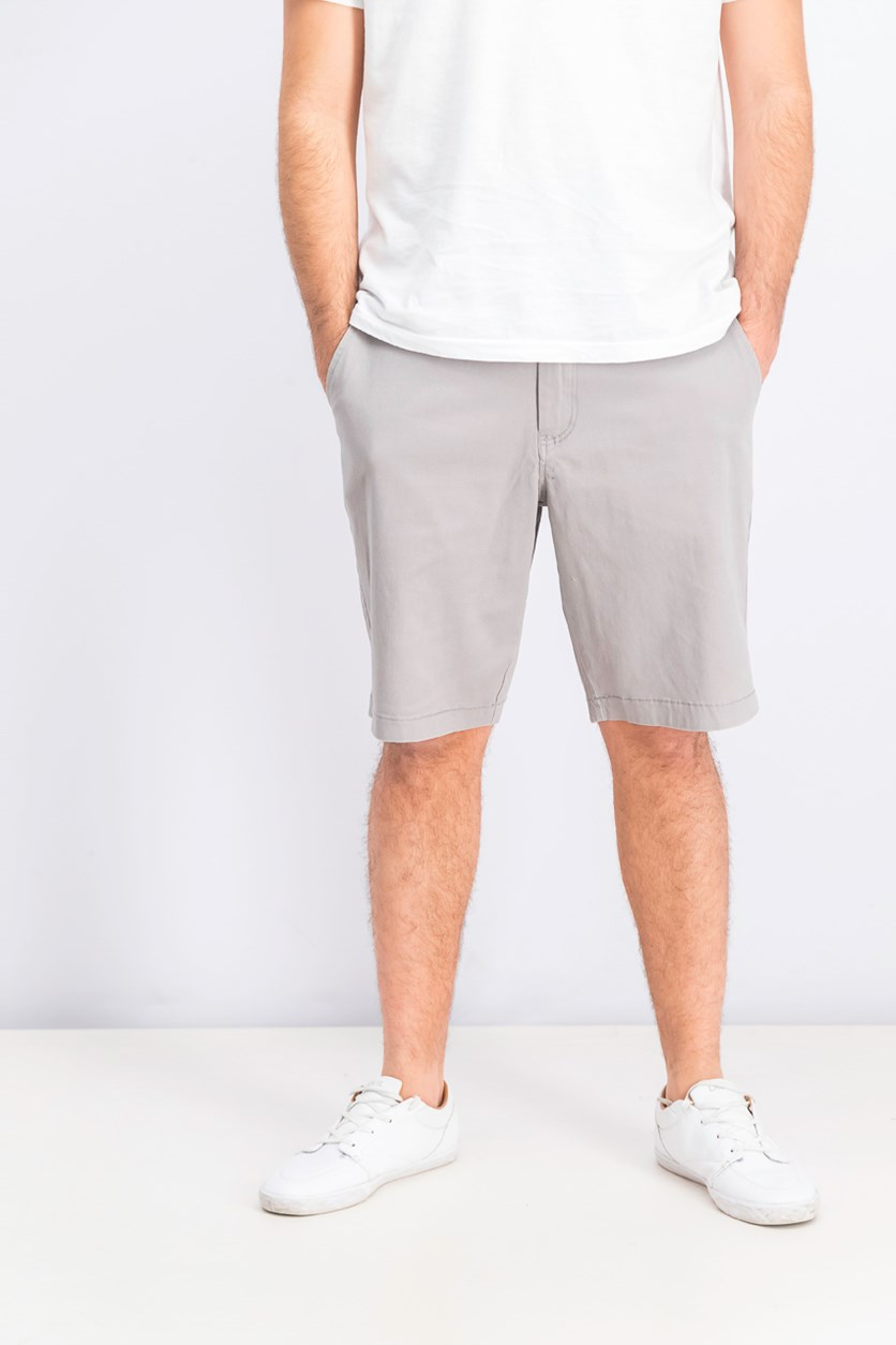 Men's Memphis Stretch Shorts, Light Grey