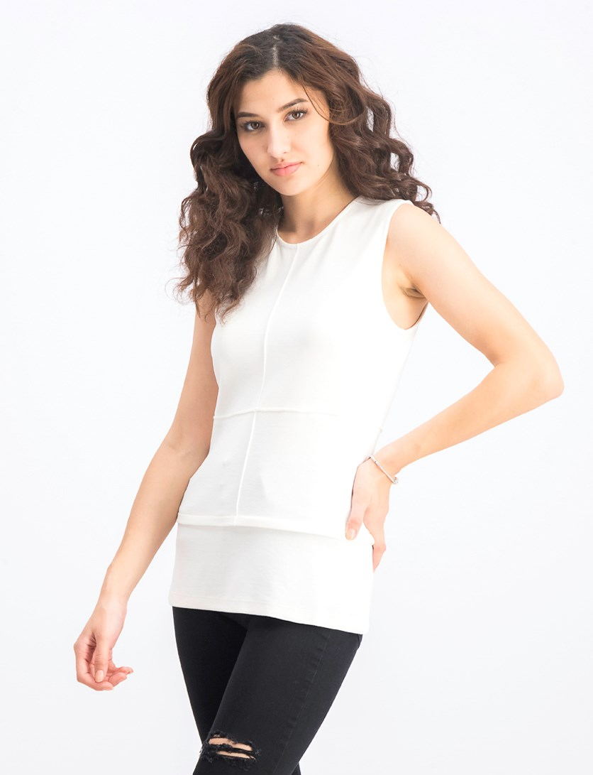 Women's Medallion Top, Bone