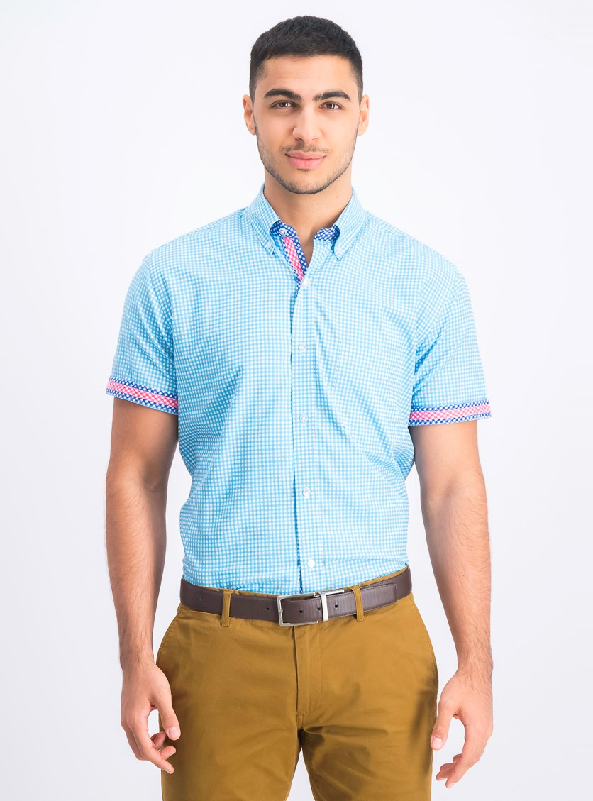 Men's Aden Regular Fit Shirt, Aqua