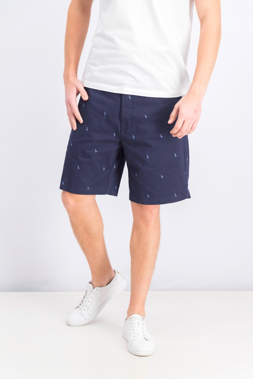 Men's Barlow Bird Chino Shorts, Navy