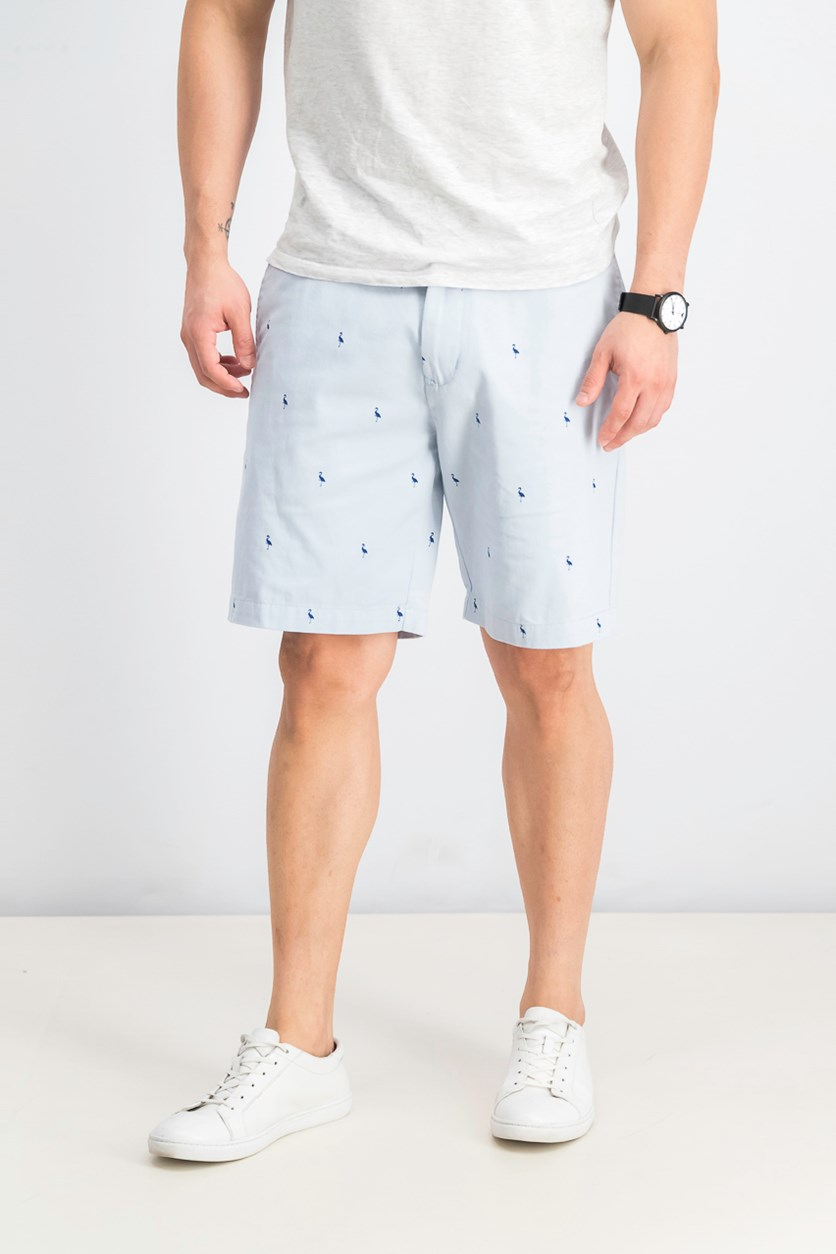 Men's Aiden Bird Regular Fit Chino Shorts, Light Blue