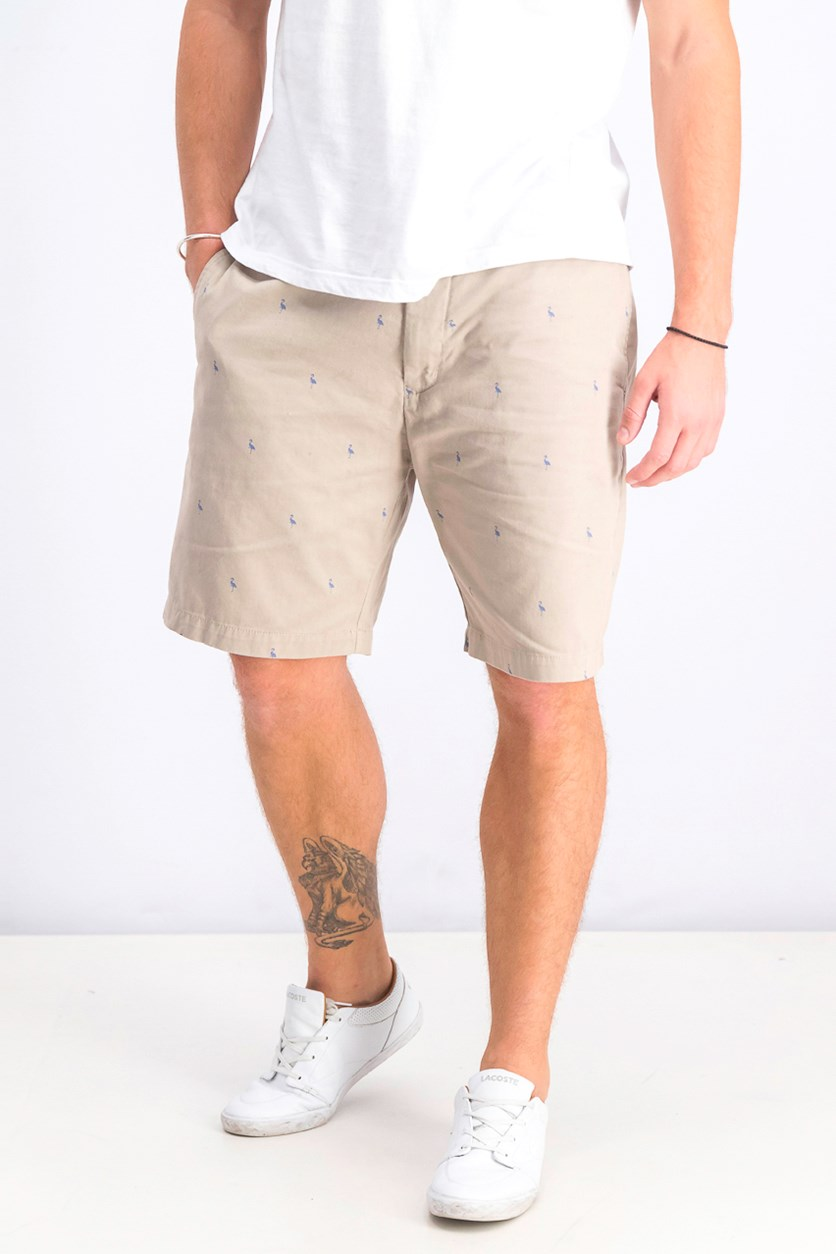 Men's Baden Bird Regular Fit Chino Shorts, Dark Khaki