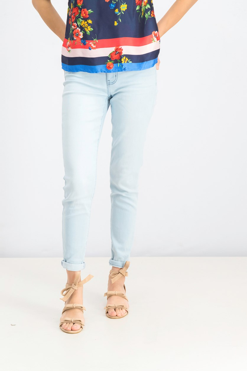 Women's Five Pocket Jean's, Light Blue Washed