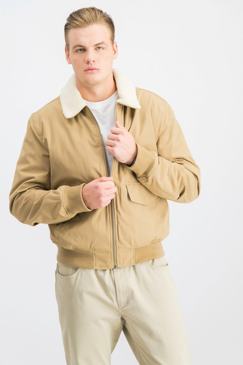 Men's Aviator Nylon Jacket, Khaki