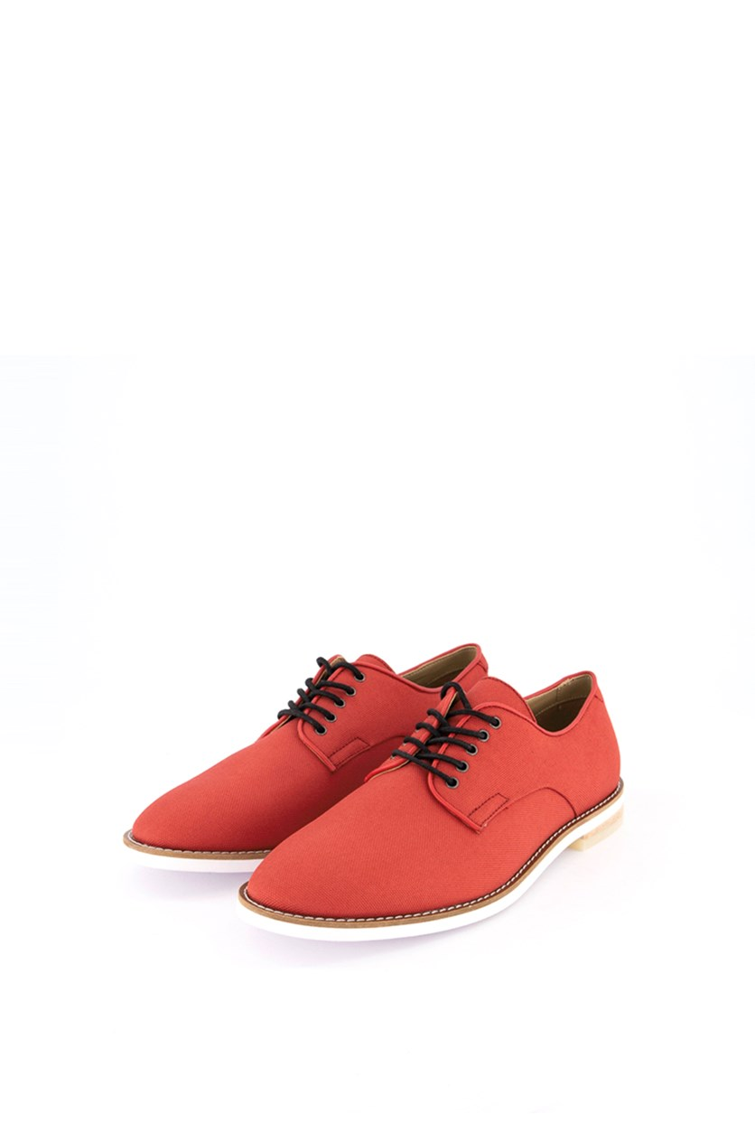 Men's Aggussie Nylon Oxfords Shoes, Brick Red