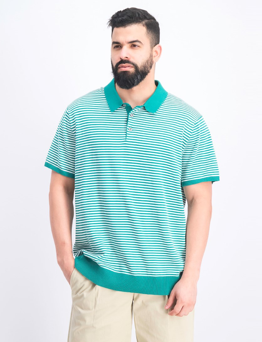 Men's Striped Banded Polo Shirt, Jasper