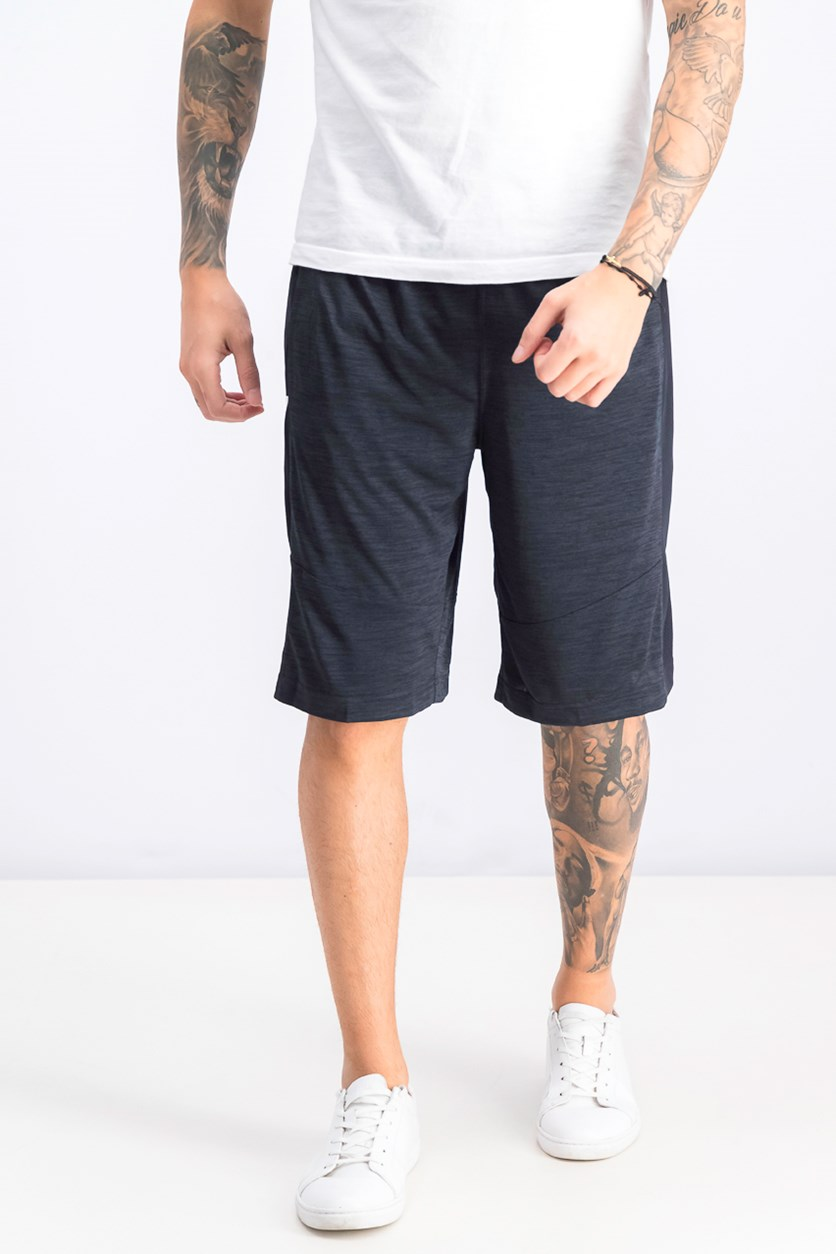 Men's Elastic Waistband Sportwear Short, Black Heather