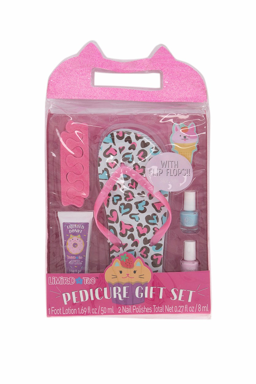 Girls Pedicure Gift Set, Pink
