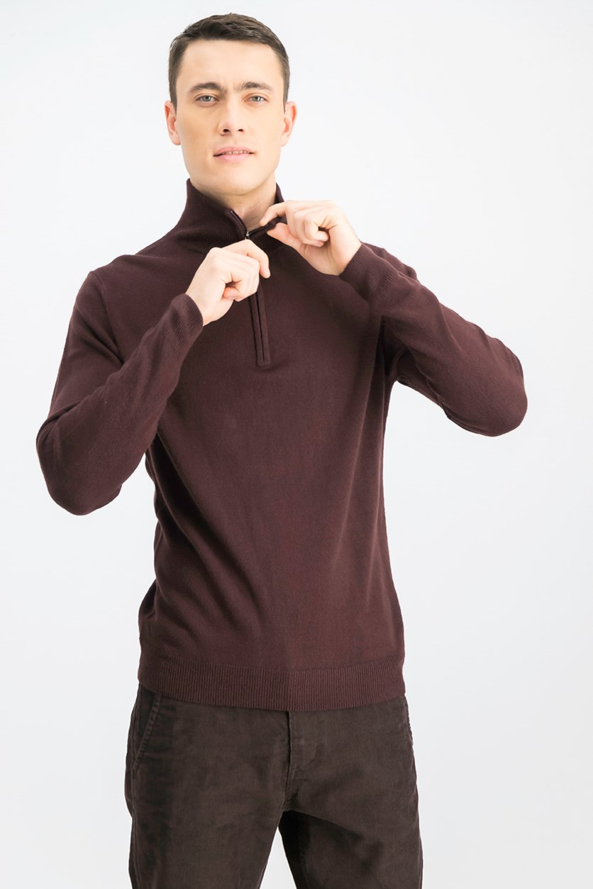 Men's Soft Touch 1/4-Zip Sweater, Bordeaux