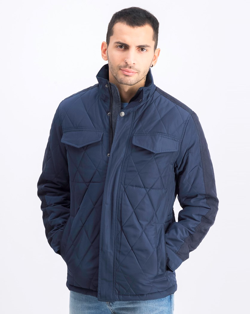Men's Ultra Oxford Quilt Jacket, Galaxy Blue