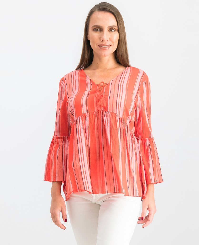Women's Sedona Lace-up Top, Sarape Stripe