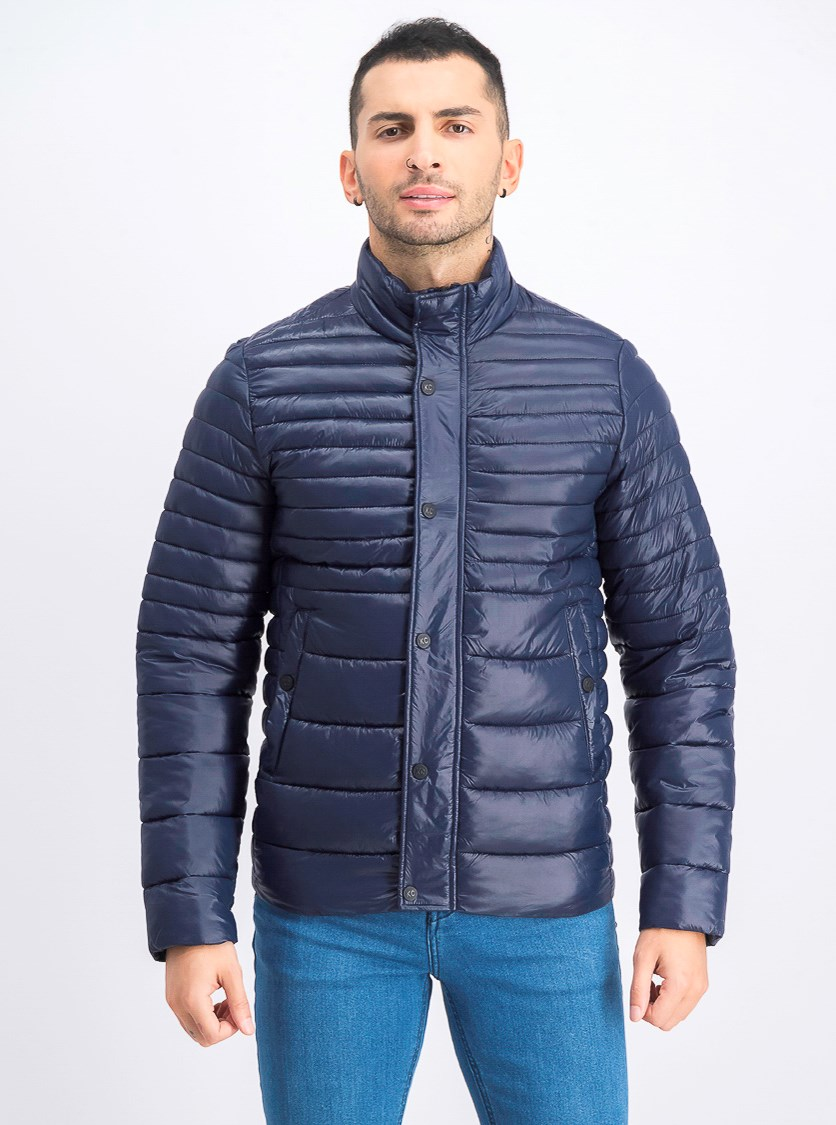 Men's Packable Quilted Jacket, Navy