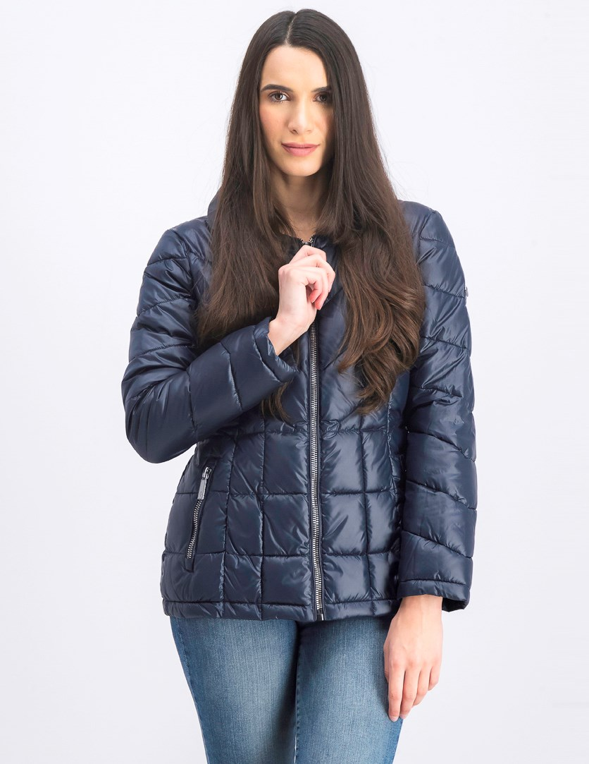 Women's Quilted Insulated Coat, Blue
