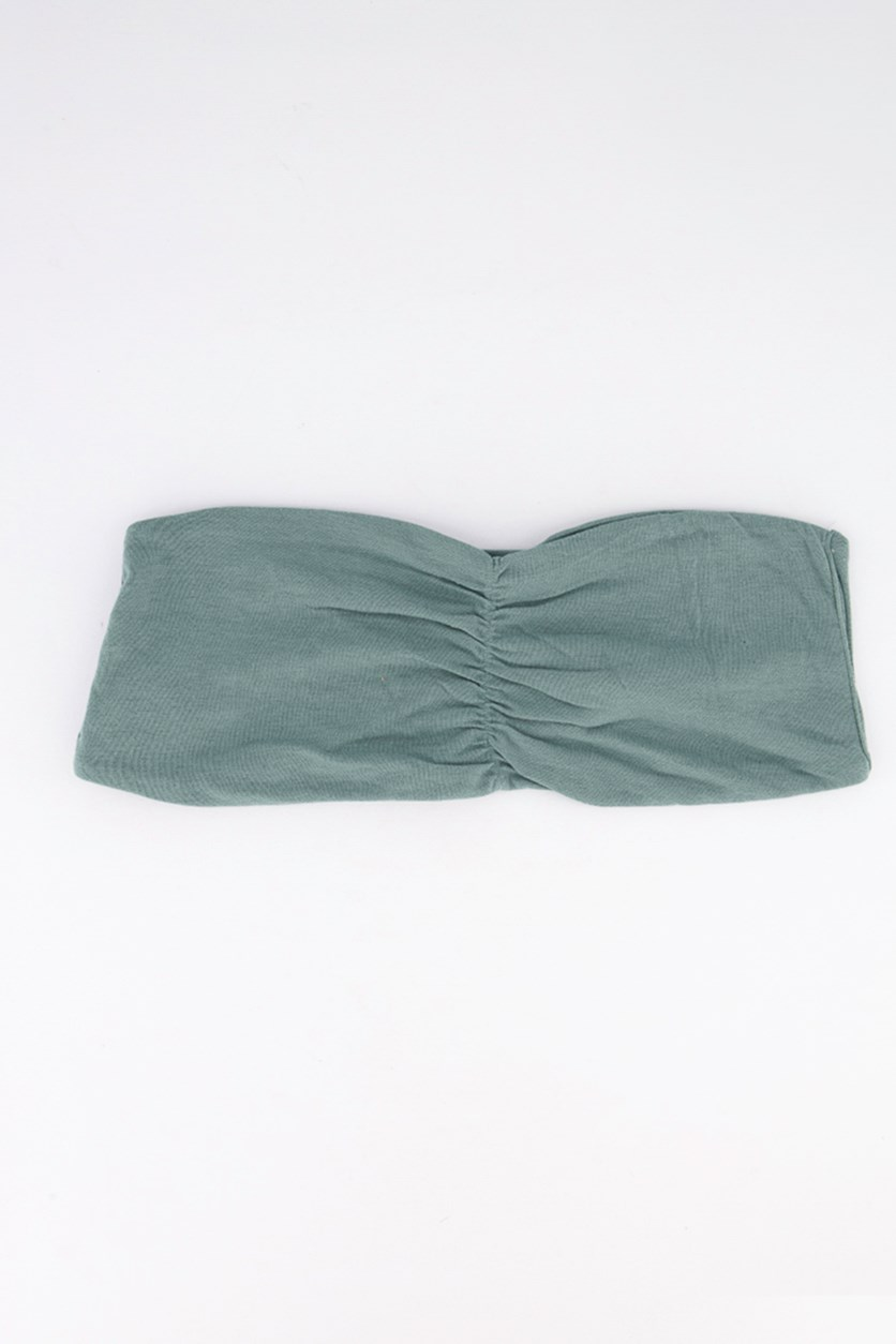 Women's Plain 2 Ways Tube Top, Emerald Green