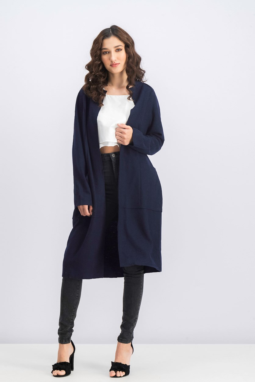 Women's Textured Jacket, Navy