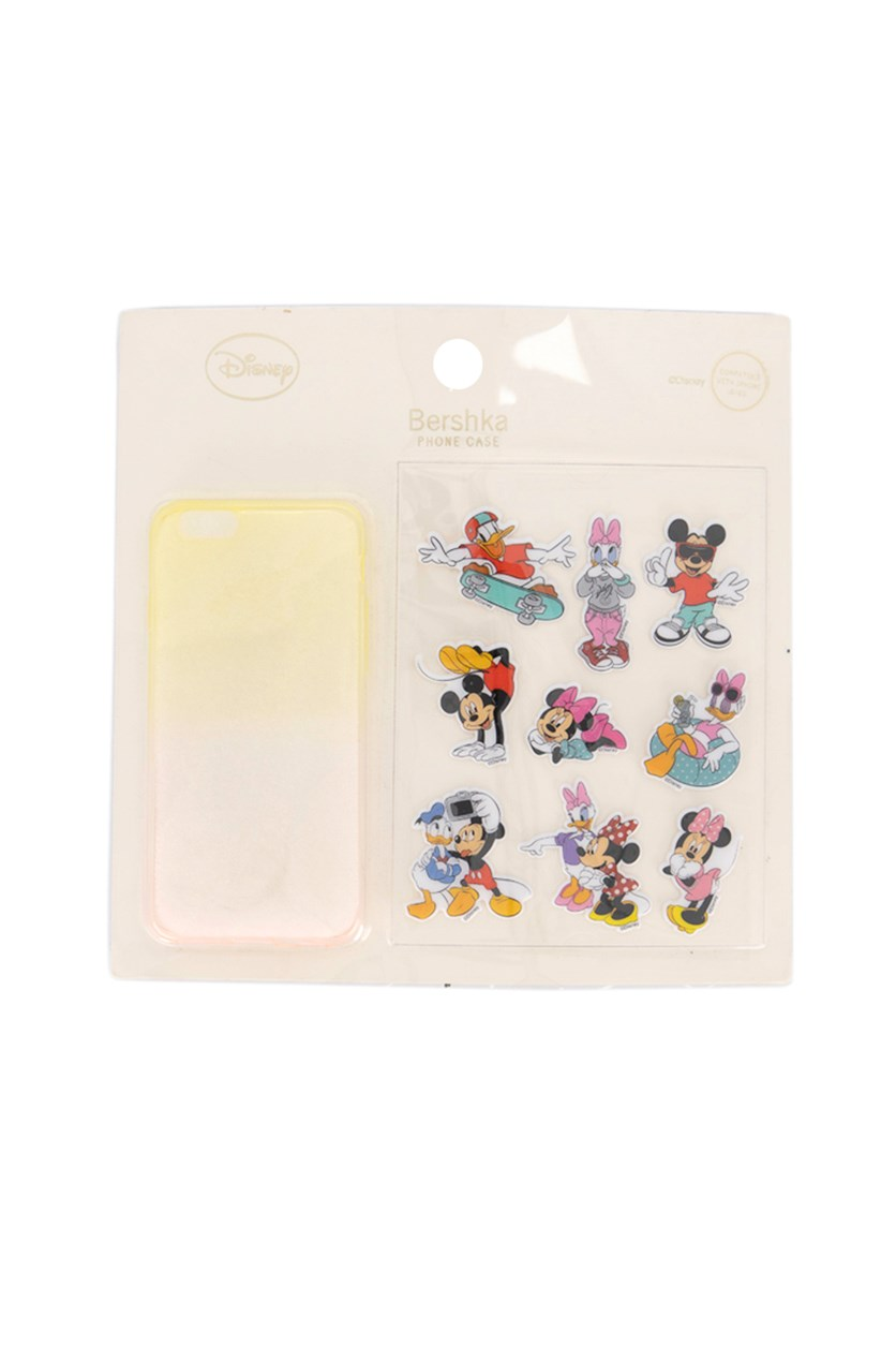 Mickey Mouse Stickers iPhone 6/6S Case, Yellow/Pink