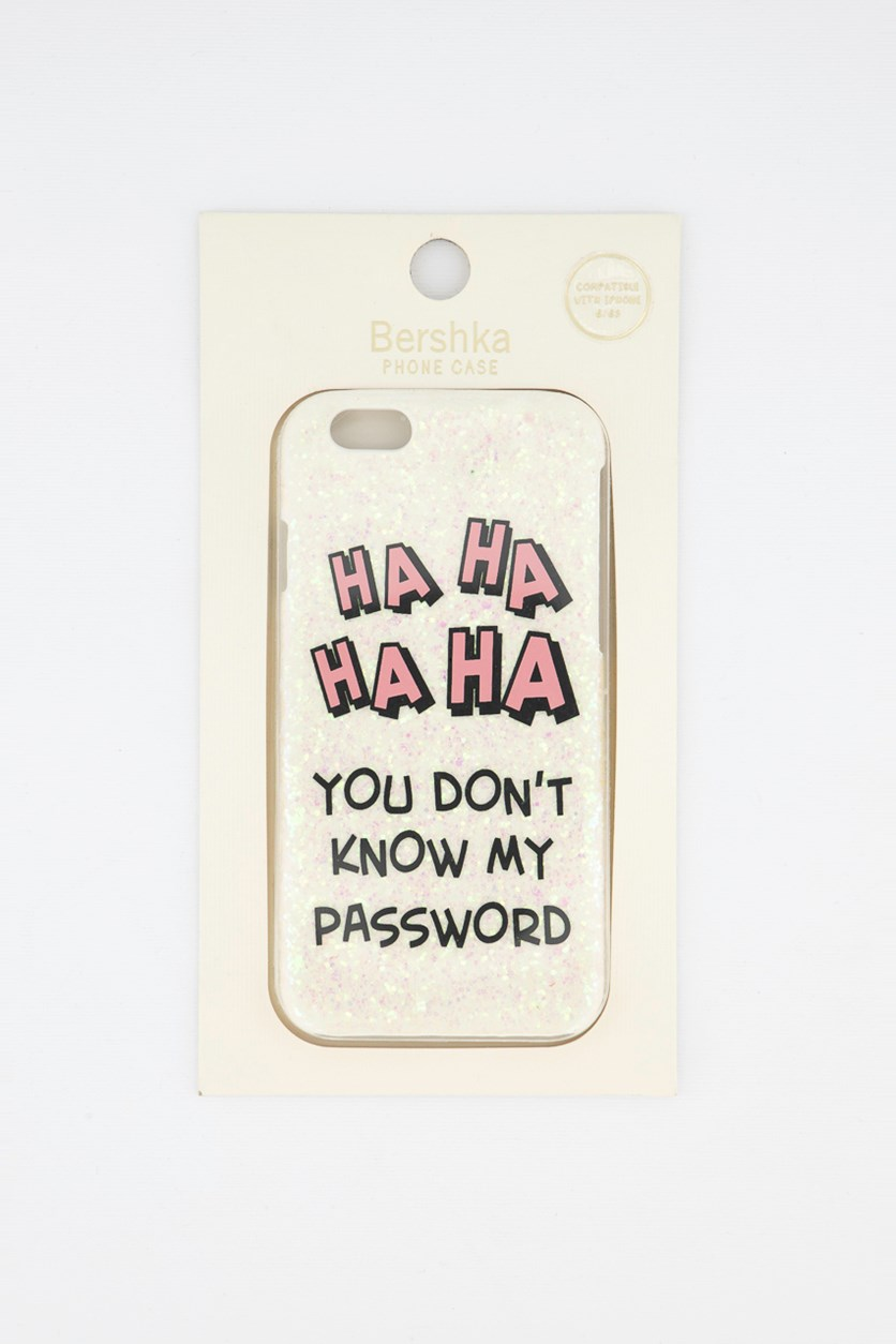 Hahaha You Don's Know My Password Phone Case, Pink