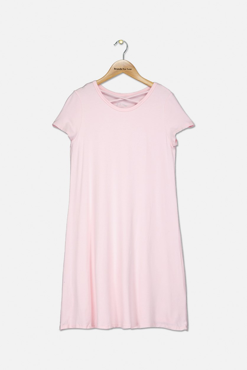 Kids Girls Plain Dress, Pink