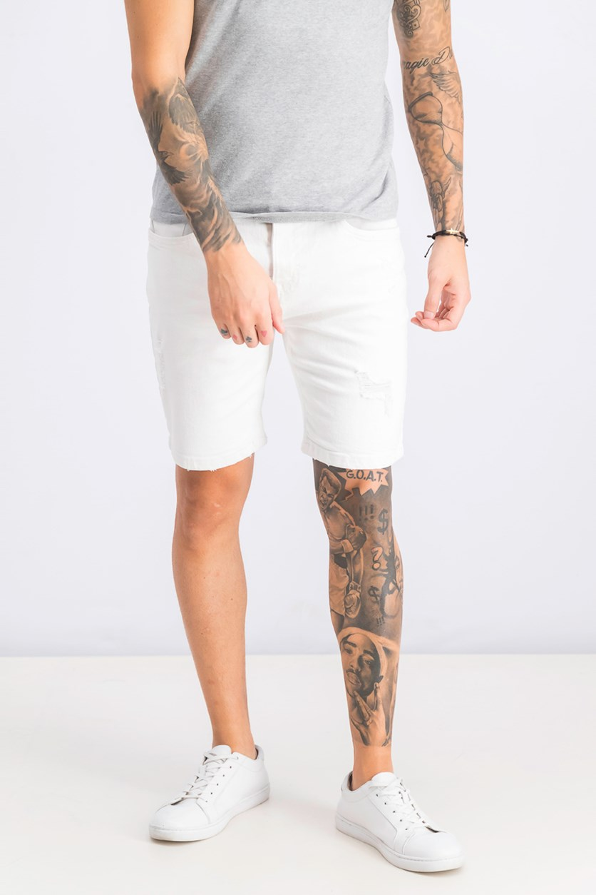 Men's Skinny Fit Short, White