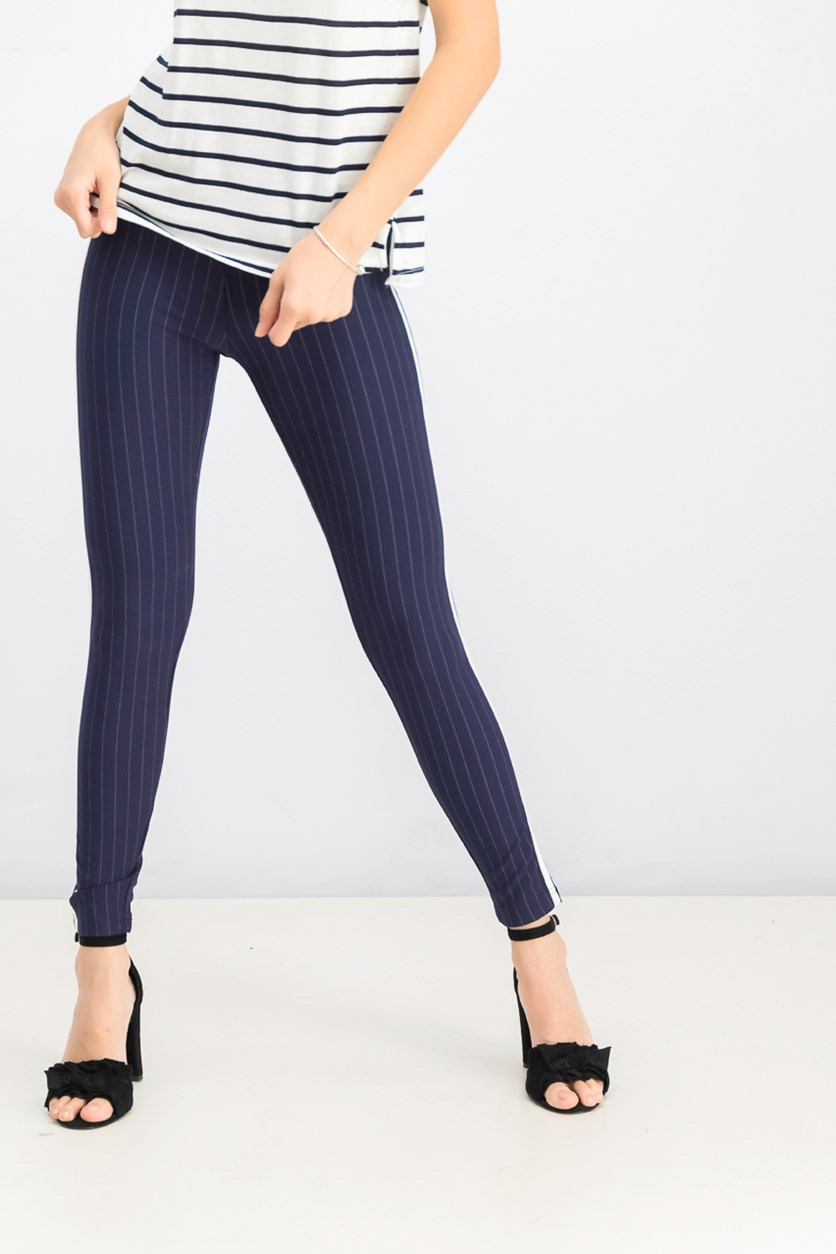 Women's Pull On Pants, Navy/White