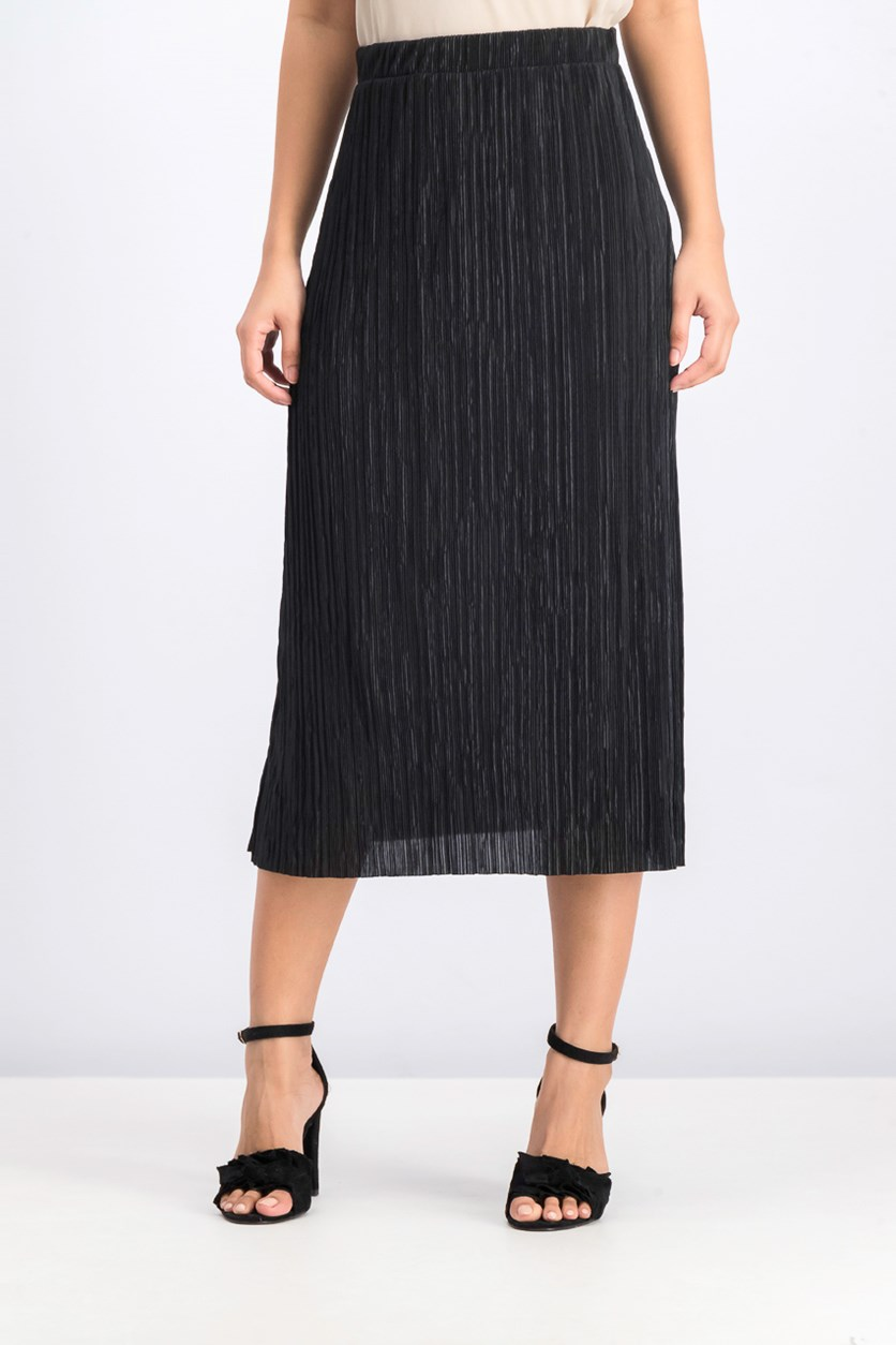 Women's Pleated Skirt, Black