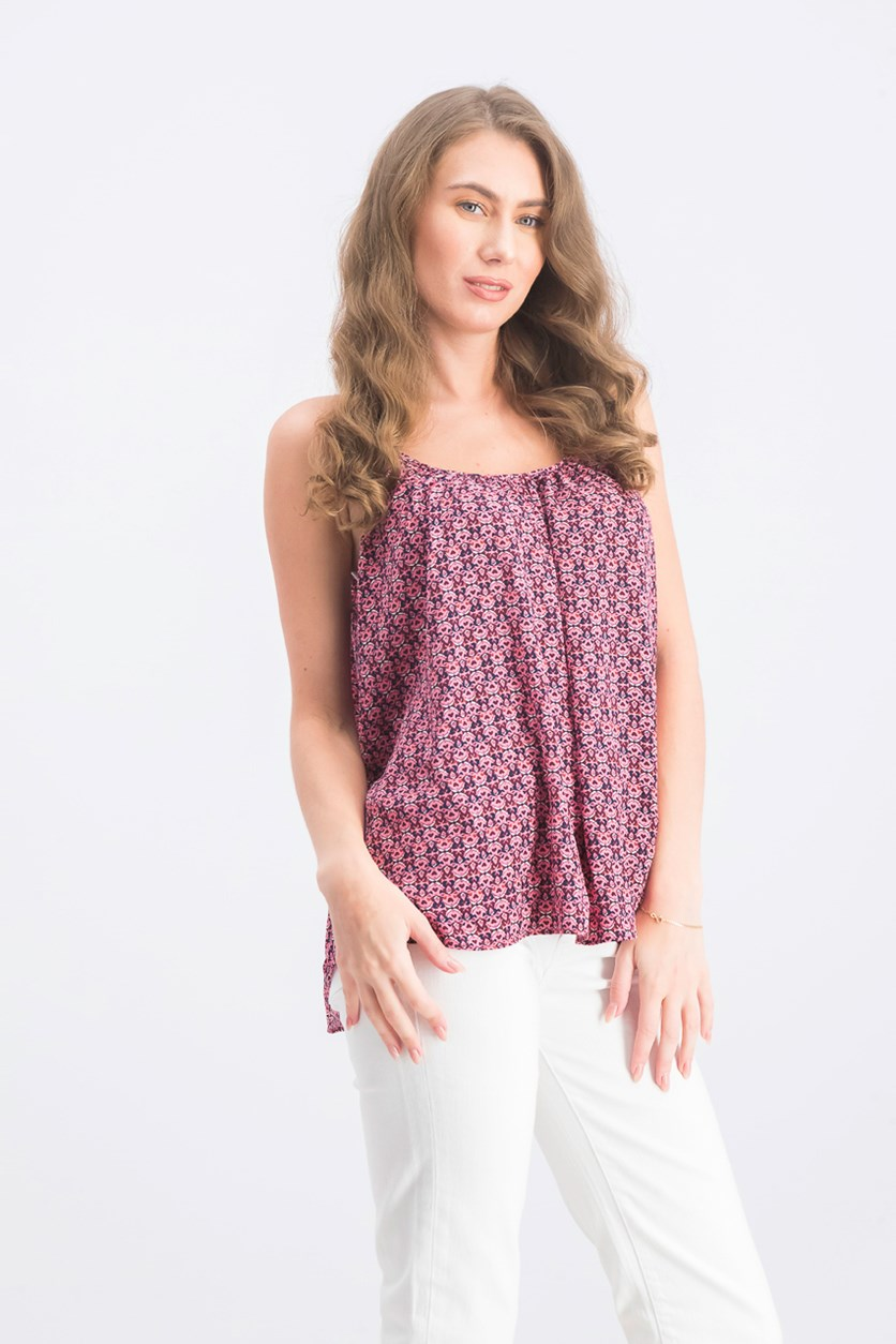 Women's Printed Top, Pink Combo