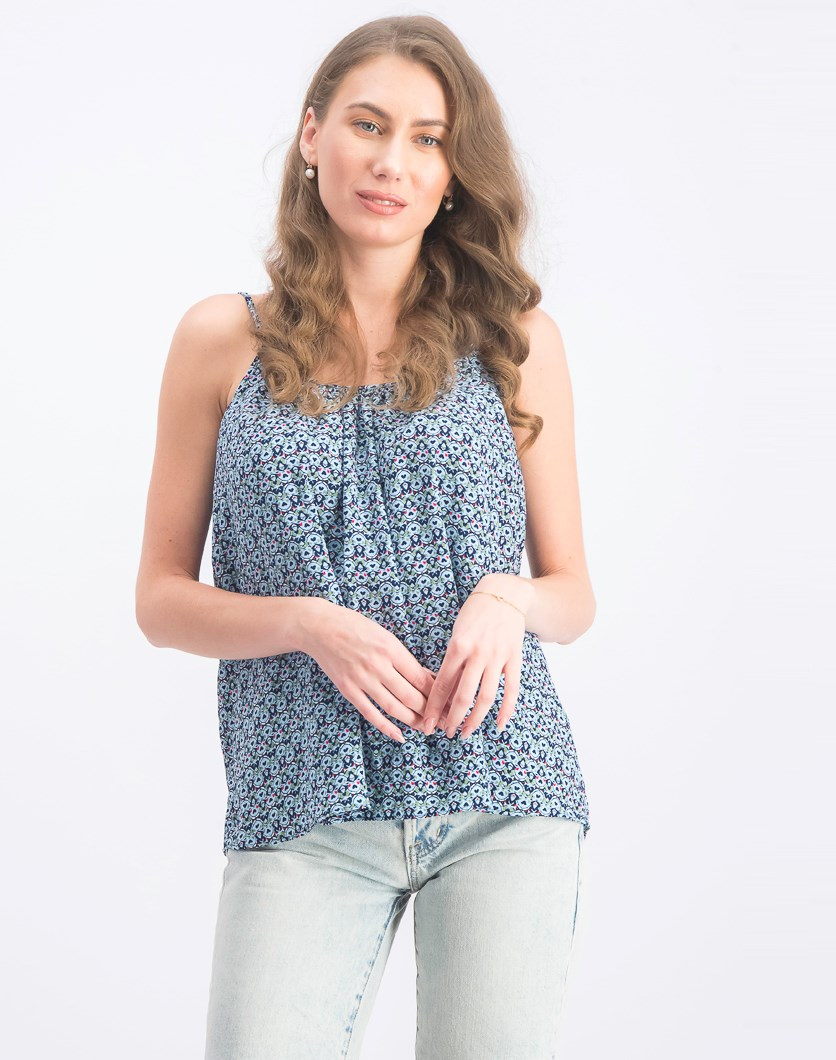 Women's Sleeveless Top, Blue Combo