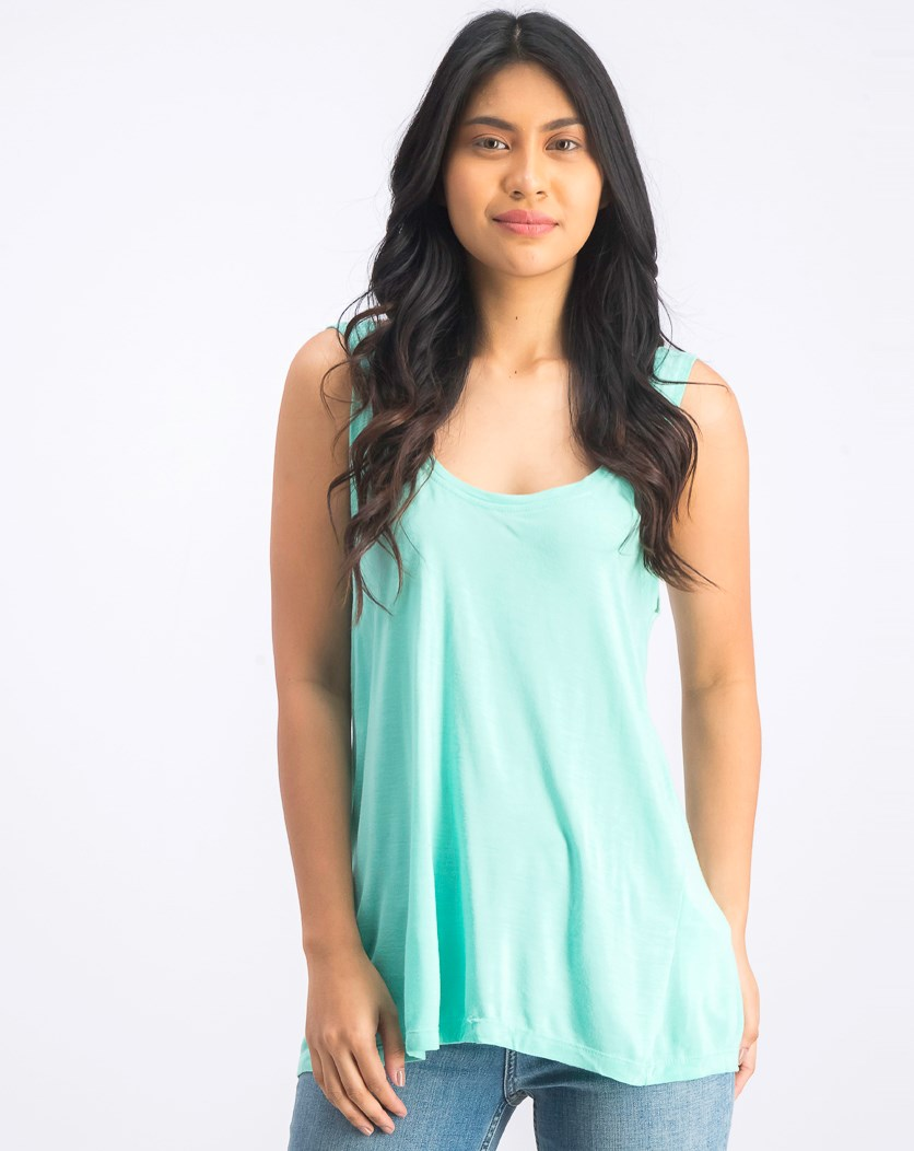 Women's Scoop Neck Tank Top, Mint